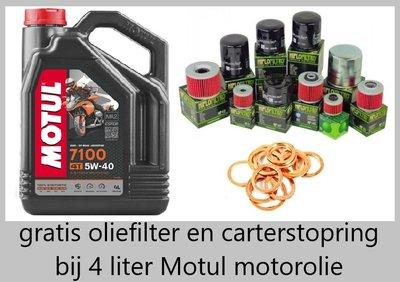 Motul 7100 motorolie 5w40 100% Synthetisch 4 liter