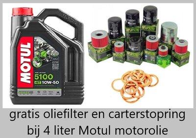 Motul 5100 motorolie 10w50  Semi Synthetisch 4 liter