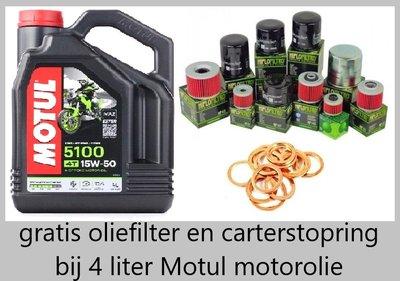 Motul 5100 motorolie 15w50 Semi Synthetisch 4 liter